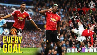 Download Video EVERY Manchester United Premier League Goal v Manchester City! | Rooney, Ronaldo, Rashford, Pogba MP3 3GP MP4