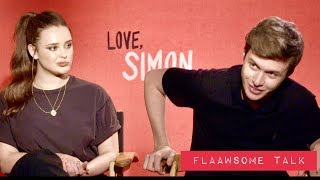 Video Nick Robinson & Katherine Langford On Love, Relationships, And Playing A Gay Teen In 'Love, Simon' MP3, 3GP, MP4, WEBM, AVI, FLV Maret 2018