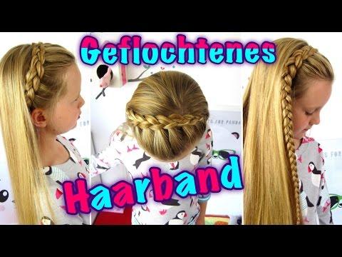 ♥geflochtenes Haarband (Teil 1)/♥ halber holländischer Zopf/ Flechtfrisur für Mädchen