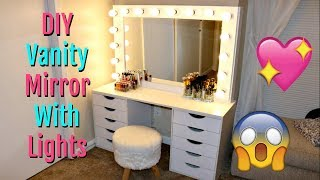 DIY Vanity Mirror With Lights | Under $150