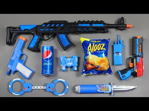Guns Toys Potato Chips Pepsi Can Toys from the Box