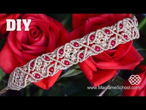 tutorial macramè – bracciale con motivo floreale