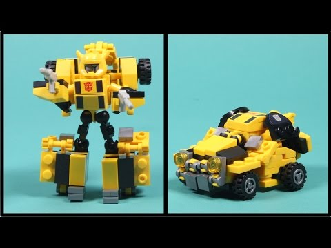Kre-o Transformers Bumblebee - Kreon Battle Changer Building Toy - Unboxing, Time-lapse Build & Play