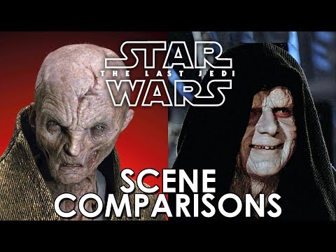 Star Wars: The Last Jedi (2017) And Original Trilogy - Scene Comparisons