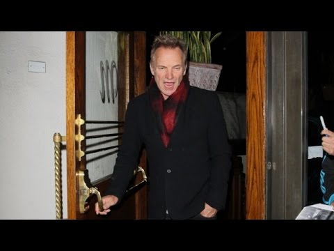 Rocker Sting Is Greeted By Fans After Dining At Madeo