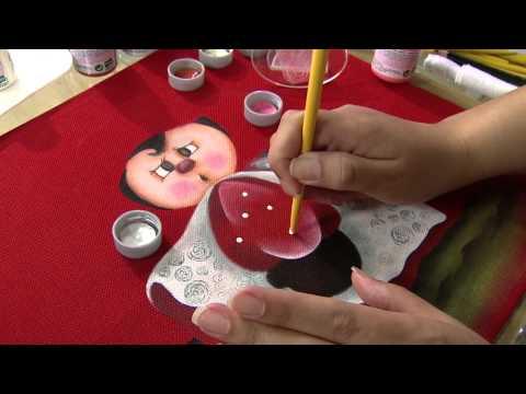 Aprenda a fazer uma belíssima pintura em tecido, com tema