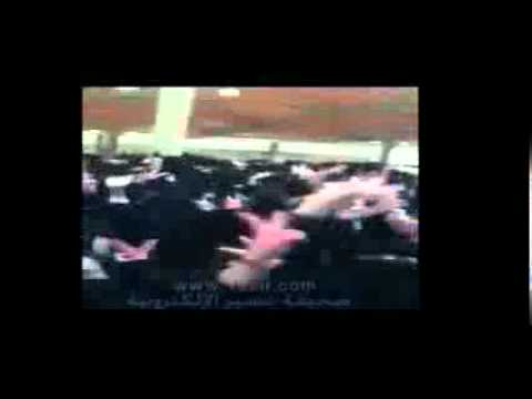 Saudi Female University Students Protesting