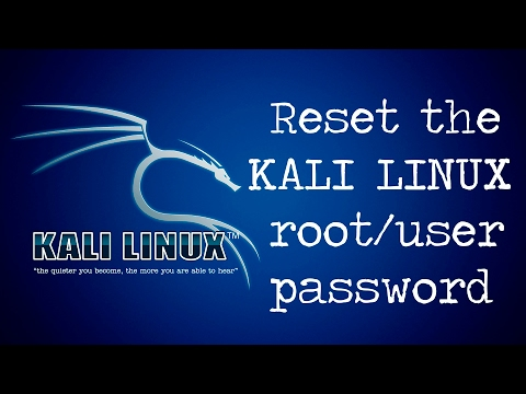 Reset the kali linux root/user password✓