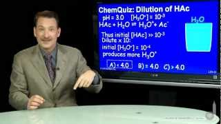 Dilution Of HAc  (Quiz)