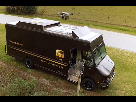UPS Truck Launched Delivery Drone Test