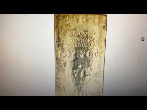 GOLD BAR 107 OZS!! NOT GOING TO FIND THIS COIN ROLL HUNTING BUT HOW COOL?