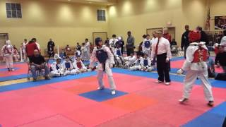 Jersey Cup - Taekwondo Best Sparring Kicks 12 year old USAT Olympic Style
