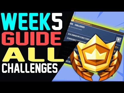 How to Complete Fortnite WEEK 5 CHALLENGES GUIDE – Follow the Treasure Map found in Snobby Shores
