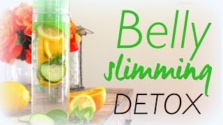 Natural Belly Slimming Detox Water Recipe - YouTube