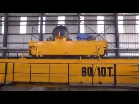 80-10 Ton Double Girder Overhead Cranes Video