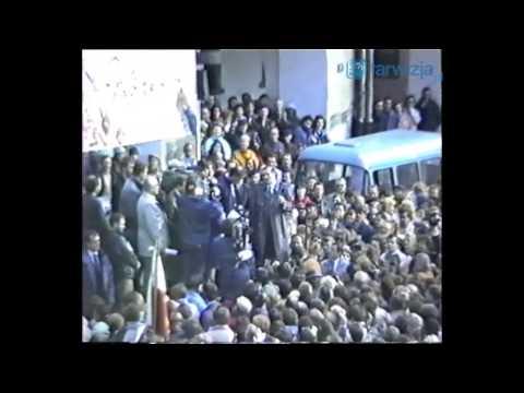 RETRO TARNÓW. Niezwykła relacja z wizyty Lecha Wałęsy w Tarnowie w 1990 roku