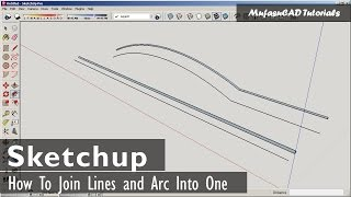 Video Sketchup How To Join Lines and Arc Into One Object MP3, 3GP, MP4, WEBM, AVI, FLV Desember 2017