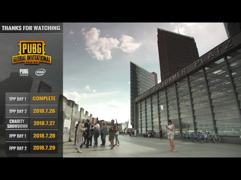 EN: PUBG Global Invitational (PGI) 2018 - Day 1 (TPP)