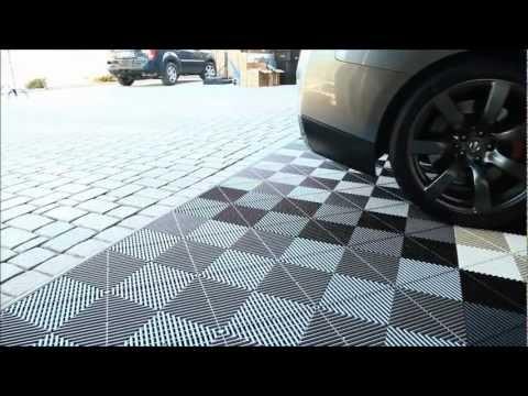 Garage Flooring Inc Installs Vented XL Modular Flooring Tiles