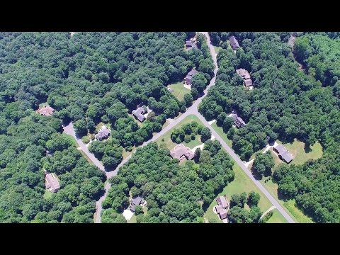 Aerial Views of Holly Brooks Subdivision - Gibsonville, NC (видео)