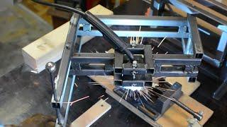 Fabricating a welder gun holder for the pantograph plus welding experiments.CNC BRUSHED PATTERNS: https://www.youtube.com/watch?v=00FbRJ5zDLEINSTAGRAM:  https://www.instagram.com/absorberoflight/