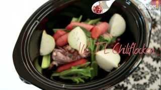 Hühnerbrühe aus dem Slow Cooker