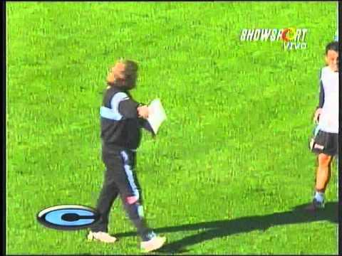 Ricardo Zielinski en la previa al partido entre Belgrano y All Boys
