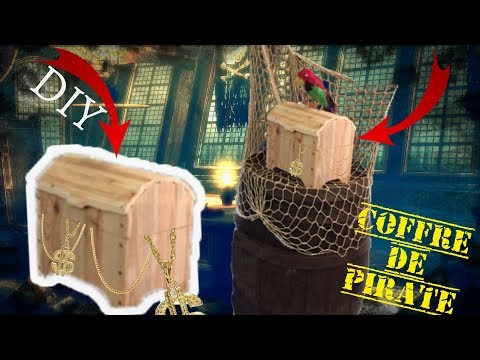 DIY COFFRE PIRATE /  Pirate safe / Chest