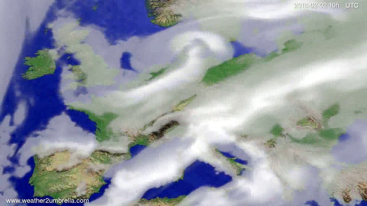 Cloud forecast Europe 2018-01-31