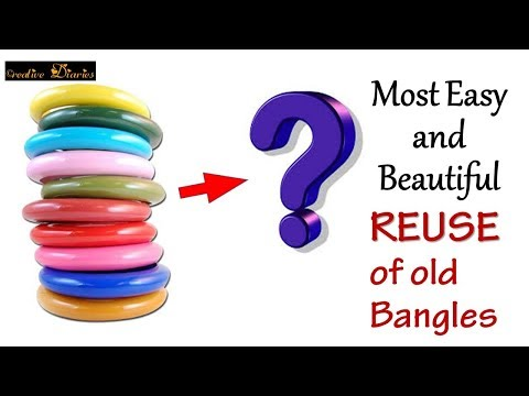 Video Super Easy and Beautiful Bangle making you have ever seen I Reuse old Bangles I Creative Diaries download in MP3, 3GP, MP4, WEBM, AVI, FLV January 2017