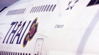 Extended Version Thai Airways TG102 Bangkok - Chiangmai By B747-4D7