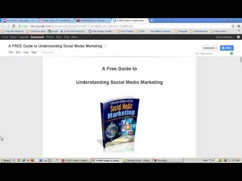 How to Copy and Use the Social Media Marketing Guide Image – by Wealth Creations Network