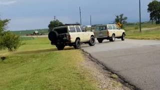 Two fj62 v8 land cruisers