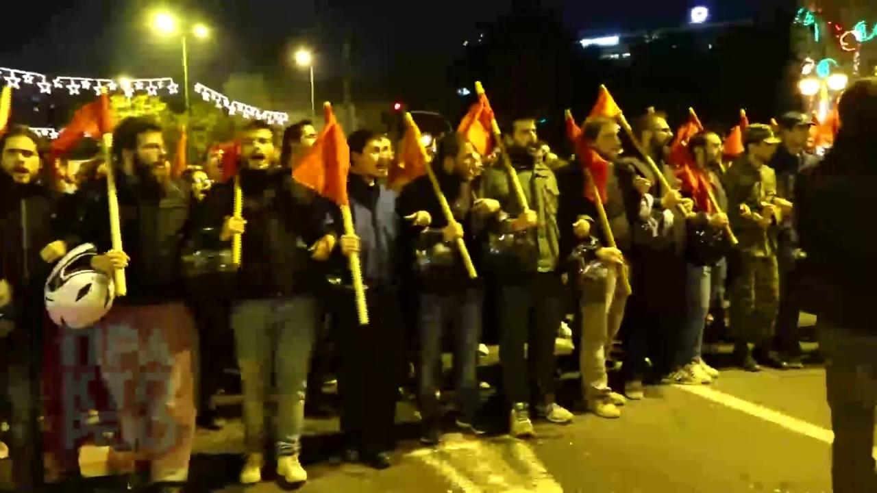 Ολοκληρώθηκε η πορεία για την 43η επέτειο από την εξέγερση του Πολυτεχνείου