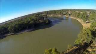 Loxton Australia  City new picture : Flying a Hercules Flying Wing over the Murray River in Loxton. South Australia