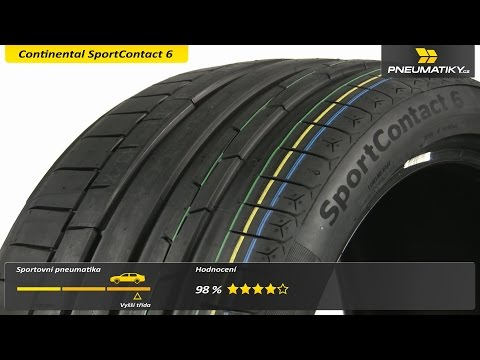 Youtube Continental SportContact 6 255/30 ZR20 92 Y XL FR Letní