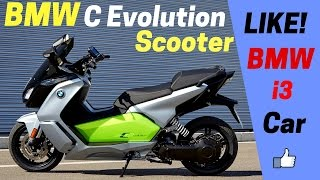 10. LOOK!! 2017 BMW C Evolution Scooter Review - 94 Ah Battery (The Same Used in BMW i3 Electric Car)