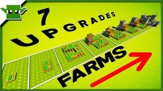 7 Minecraft Village Farm 5x5 Upgrades Speedbuild Timelapse