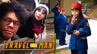 Richard Ayoade and Aisling Bea visit 'The Railway Children' | 48hrs in...Budapest