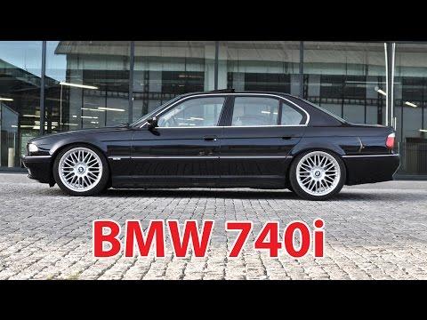 Lowered BMW 740i E38 on 20