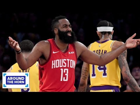 Video: Reacting to James Harden's call for Scott Foster to be banned from Rockets games | Around the Horn