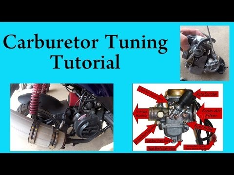 GY6 - Tuning a GY6 carburetor in a chinese scooter. This procedure works with most chinese scooters, 50cc, 125cc, and 150cc.