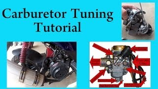 5. How to tune a carburetor in a GY6 chinese scooter 150 or 50 cc