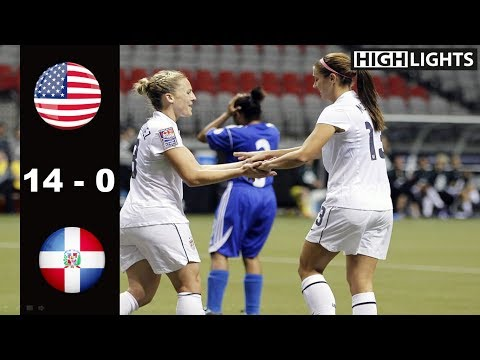 [Biggest Win] USA vs Dominican Republic 14 - 0 All Goals & Highlights | January 20, 2012