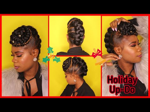 Holiday Hair Simple Braided Updo On Natural Hai Youtube Search