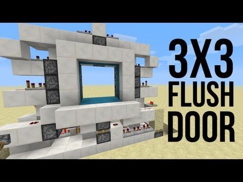 Minecraft Piston Door 3x3 3x3 Flush Piston Door 1.5