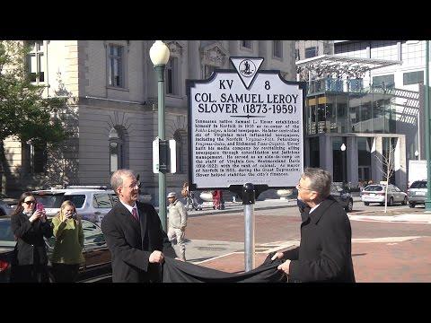 Samuel Slover Historic Marker Unveiling