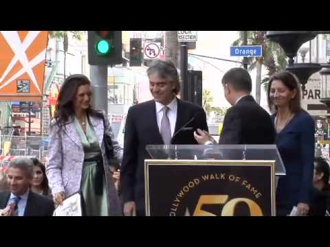 Andrea Bocelli Walk of Fame Ceremony