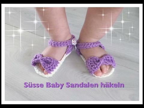 EINFACHE Baby Sandalen häkeln / Babyschuhe häkeln 0-3 Monate 3-6 Monate 6-12 Monate