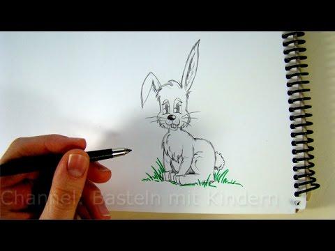Zeichnen lernen: Osterhase zeichnen – Hasen mit Bleistift zeichnen / Ostern